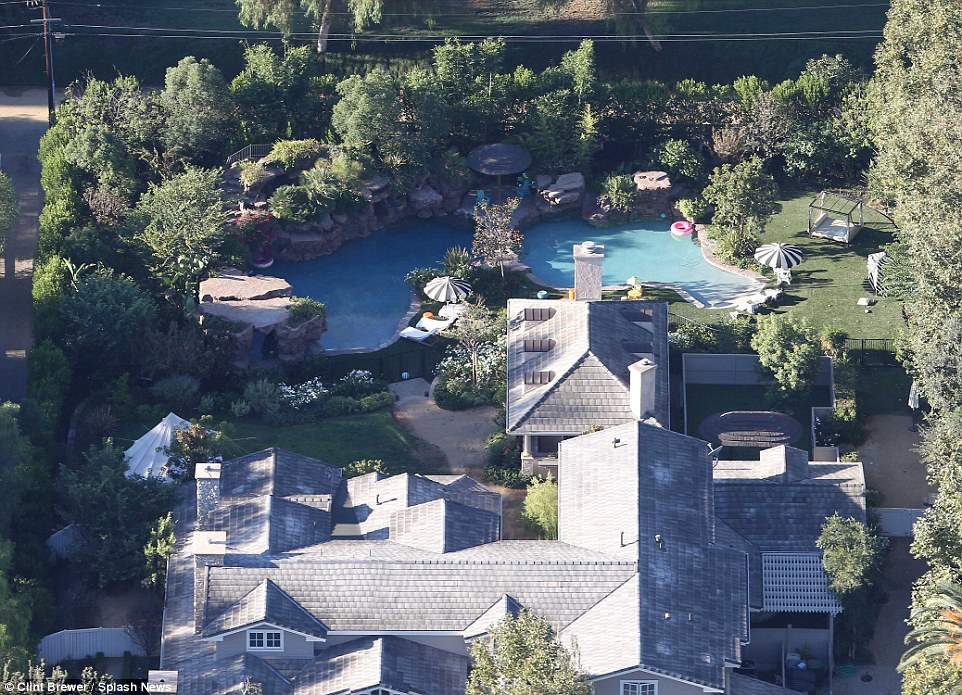 It's the privacy that makes property in Hidden Hills so sought after by celebrities – and likely the reason Jolie, who recently made headlines after filing for divorce from husband Brad Pitt, picked the property (above)