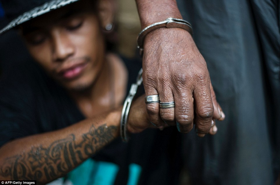 Incredibly the fear tactic has seen Duterte's popularity sky-rocket with  8/10 Filipino residents are satisfied with the campaign promise to crackdown on drug addicts and dealers