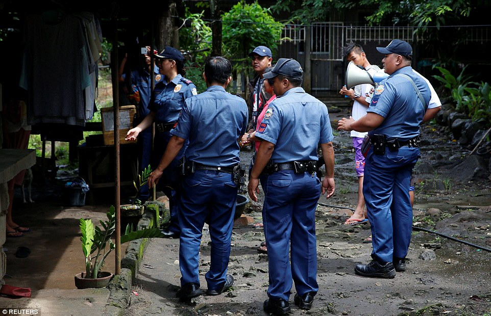 The international community has slammed Duterte's maligned war on drugs, which has seen armed police sanctioned to target and raid drug dealers