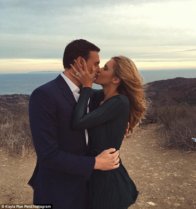 Exciting news!: Ryan Lochte announced his engagement to Kayla Rae Reid on Sunday