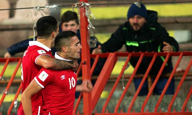 Dusan Tadic overcome with emotion after Serbia's win against Austria