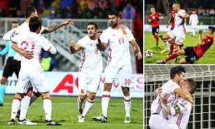 Albania 0-2 Spain: Diego Costa and Nolito take visitors top of World Cup qualifying Group