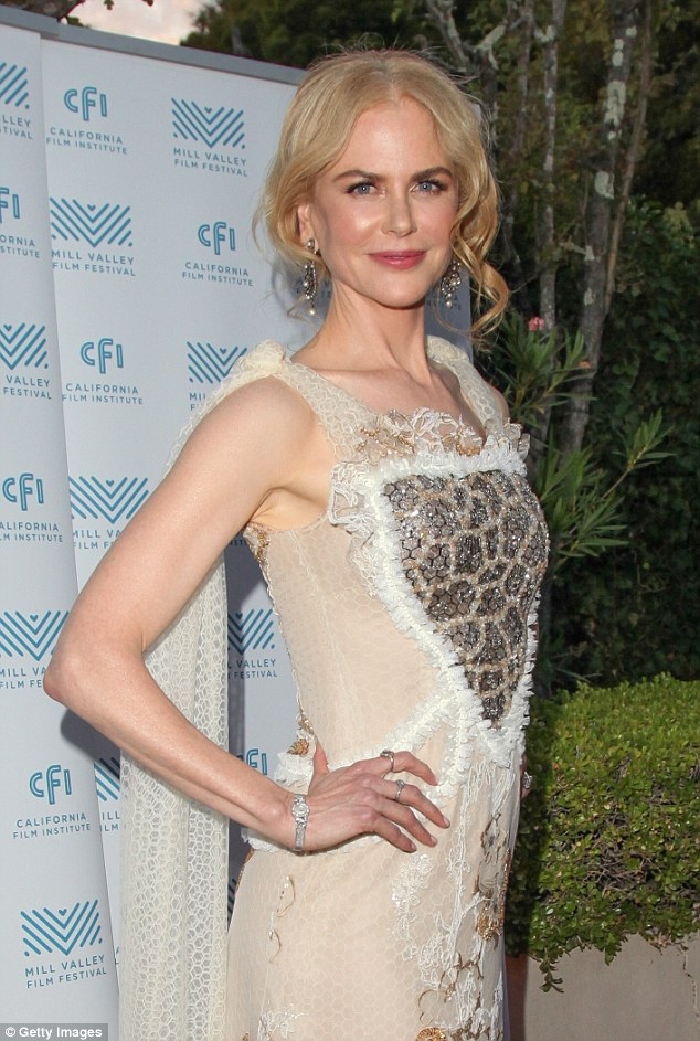 Classic: Nicole Kidman stunned as she stepped out at the Mill Valley Film Festival in California on Monday