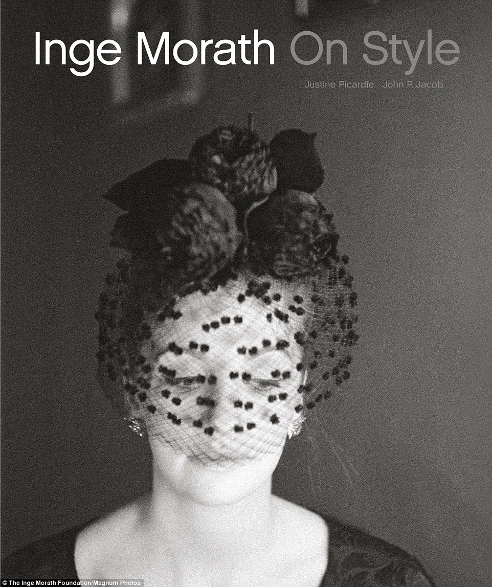 Monroe, her face hidden by a black veil, also graces the cover of Morath's new book