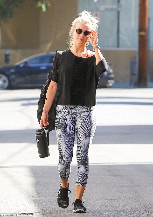 Keeping fit! Julianne was spotted after a workout last week