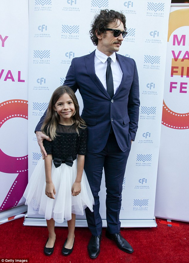 Showing her the ropes? James Franco was pictured with his young co-star Lola Sultan for a screening of their flick In Dubious Battle at theMill Valley Film Festival on Sunday