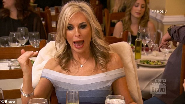 Stirring it up: Kim DePaola stirred up gossip up Teresa's husband at the fashion show