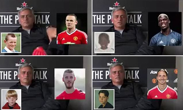 Jose Mourinho plays Guess the Player with his Manchester United stars