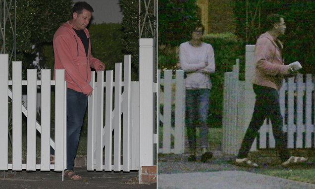 Karl Stefanovic looks downcast as he visits wife Cassandra Thorburn at former marital home