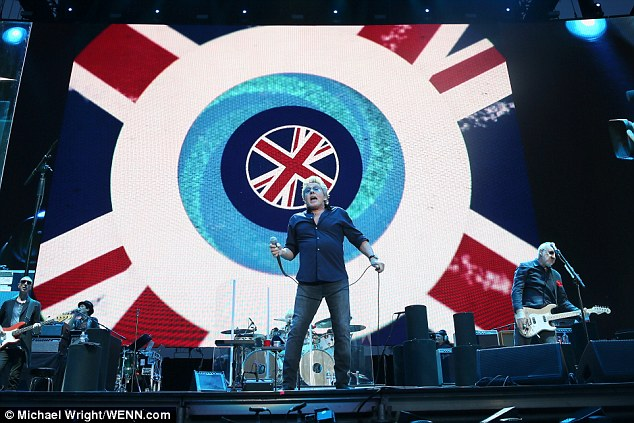 Having a Brit of fun: The proud band nailed their colours to the mast as they performed