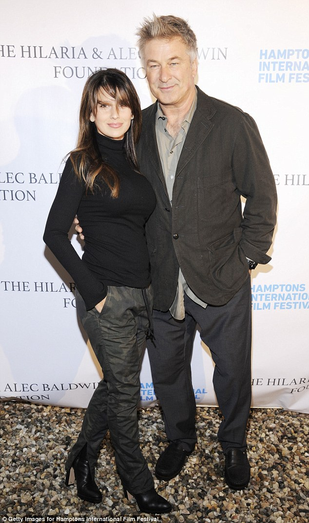Power couple: Alec Baldwin, 58, and wife Hilaria, 36, were the center-of-attention at an event for the Hamptons International Film Festival Sunday, fresh off the A-lister's outing on Saturday Night Live