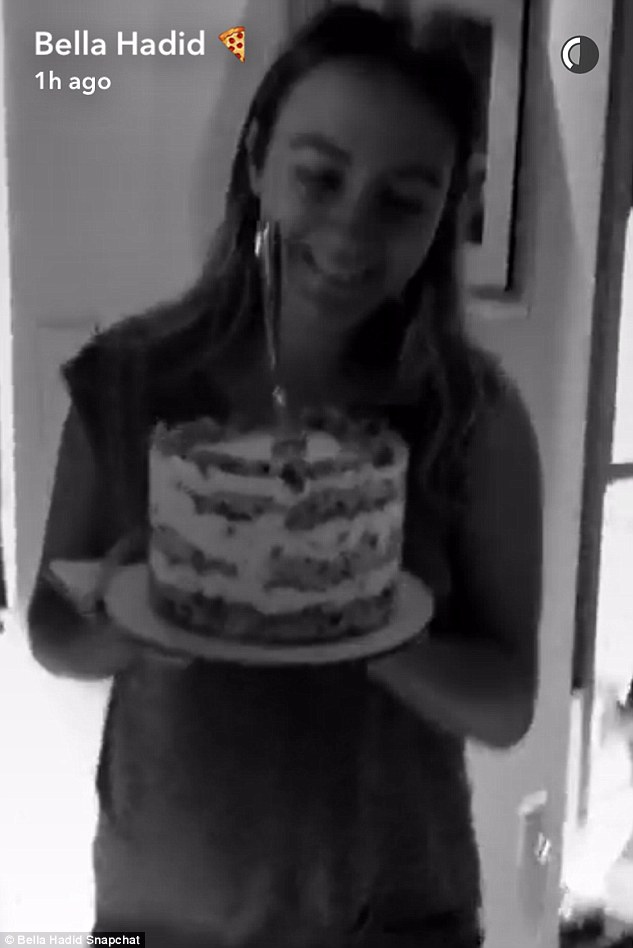 But of course: She was also given a cake, naturally, for her special day
