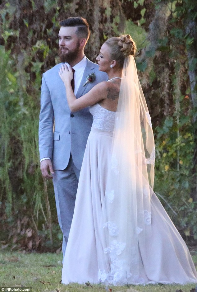 Newlyweds: Teen Mom star Maci Bookout wed Taylor McKinney at the Honey Lake Inn in Greenville, Florida on Saturday