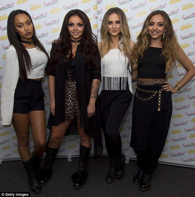 Not holding back:The four girls draw on their past relationships as they belt out the new punchy tune Shout Out To My Ex - with Perrie singing some potentially revealing lyrics