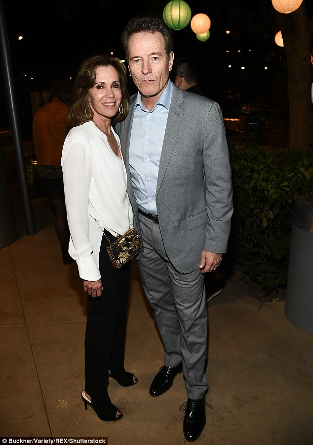 Longtime partner: The actor is pictured with his wife Robin Dearden at an event in Los Angeles last week