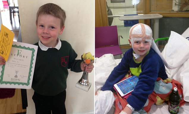 Hornchurch boy with rare brain tumour causes him to smile before having a seizure