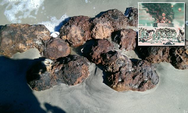 Matthew unearths Civil War cannonballs in South Carolina