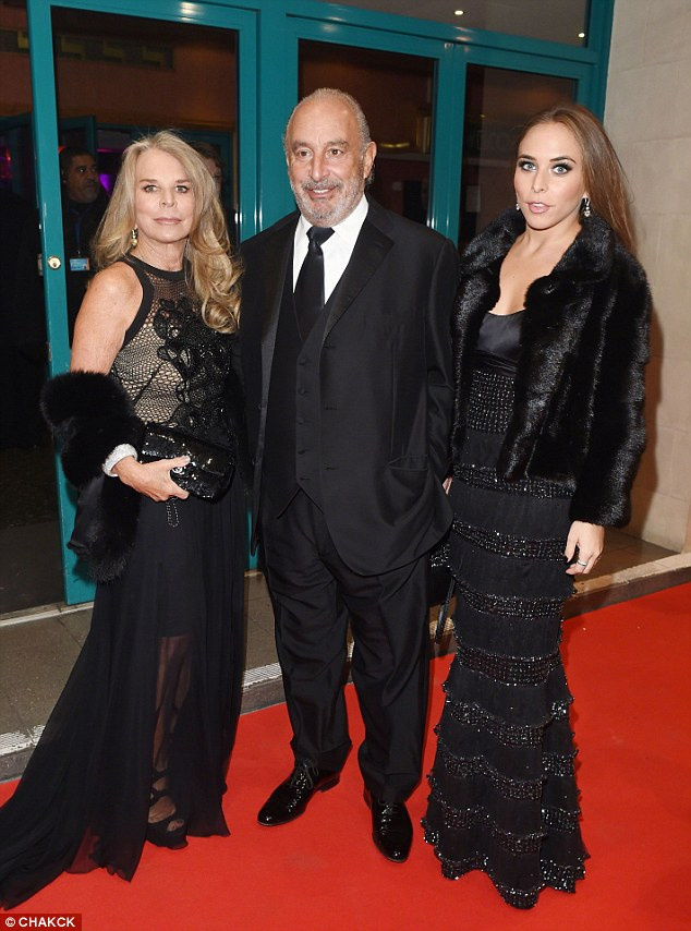 The grass isn't so Green: Chloe is the daughter of retail chairman Philip Green, who has come under criticism following the collapse of BHS. Her mother Tina is pictured on the left