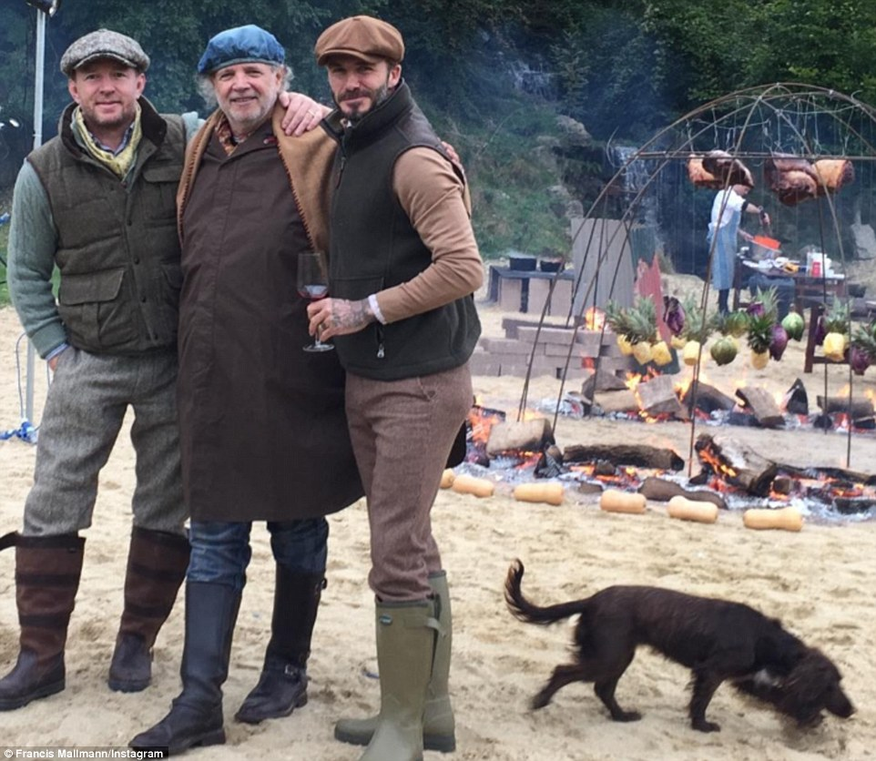 What you got cooking? Celebrity chefFrancis Mallmann posted this picture of himself with Guy and David on Instagram