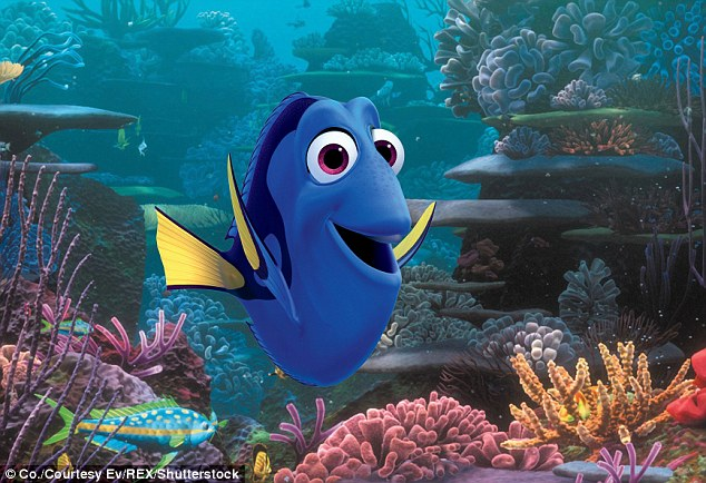 Making a splash: Finding Dory has exceeded the $1 billion mark at the worldwide box office, only the third film this year to do so
