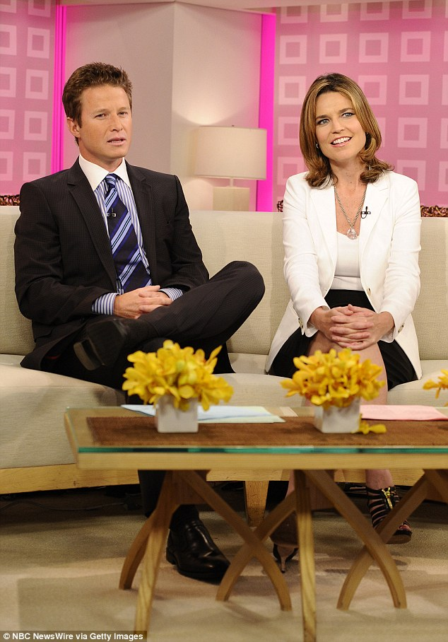 Today Show co-host Bush,(left with Savannah Guthrie on the Today Show) will not face any punishment from NBC