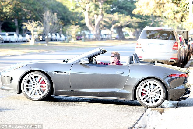 Smithy, is that you? The appearance comes just days after the Brit was spotted taking his convertible jaguar for a cruise around LA