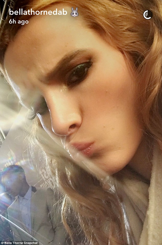 Pout: The star posed for the camera as she shared images on social media