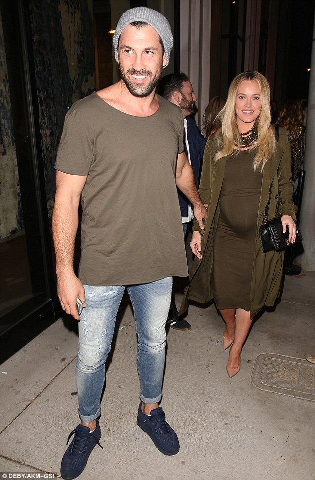 Date night! Pregnant Peta Murgatroyd and her dancer fiance Maksim Chmerkovskiy stepped out for dinner at Catch LA restaurant in West Hollywood on Saturday night