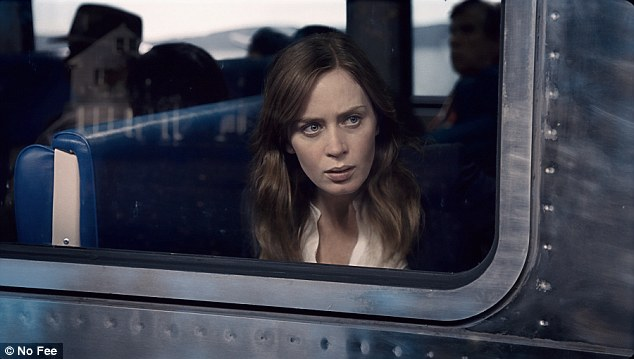 Riding the rails: Emily Blunt stars in The Girl On The Train which topped the weekend box office with  $24.7 million