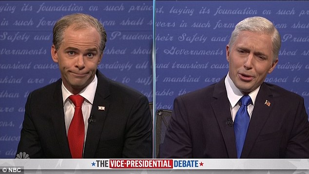 Number twos: Saturdays show got underway with the 'vice presidential debate'