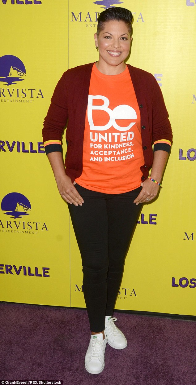 Activist: Ramirez, pictured at a film premiere in LA on September 29, is a strong advocate for LGBT youth
