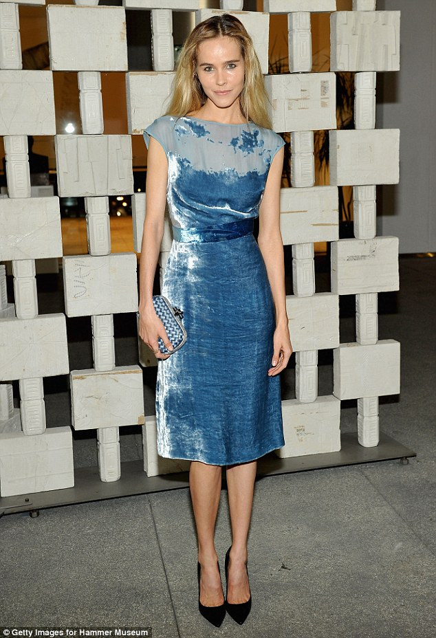 Briliant in blue! Australian actress Isabel Lucas, 31 shined as she attended the affair in a knee-length satin number