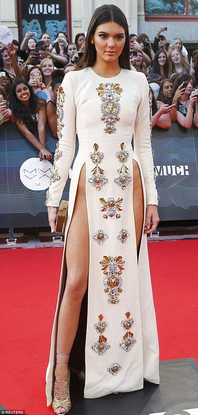 Risque: Kendall Jenner was ahead of her time when she rocked the look at the MMVA Awards in Toronto, Canada, in 2014