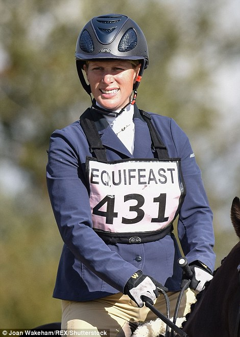 The equestrian looked smart in the traditional dressage attire of tailored jacket and jodhpurs