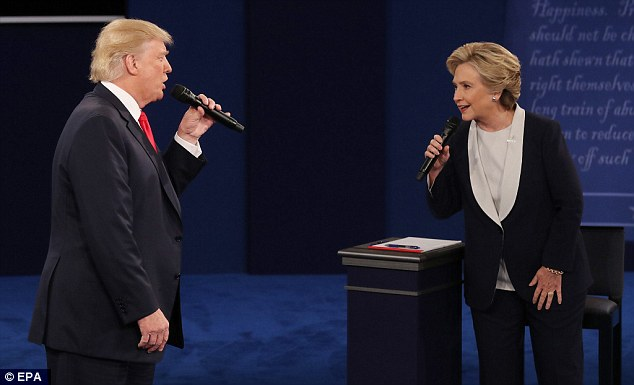 Trump and Clinton faced off in a brutal debate on Sunday evening. In a poll conducted before the debate, but after the Trump tape leaked, Clinton has an 11-point lead over her rival