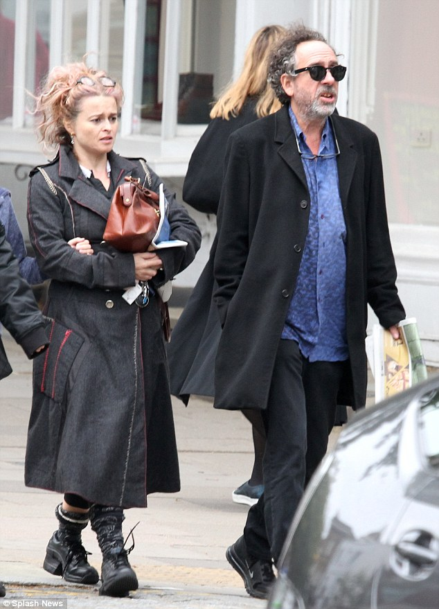 Pals: Putting on a friendly display, the 50-year-old English actress and the 58-year-old American film director looked relaxed as they ran errands together in North London on Saturday