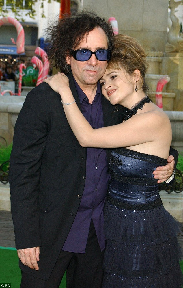 Happier times: Helena split from Tim Burton in December 2014 after dating for 13 years. The pair famously  lived in two adjoining houses in London and had two children together