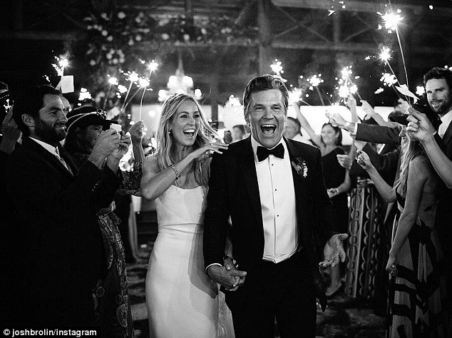 Just married! Josh posted a snap from the couple's wedding reception in North Carolina on Instagram