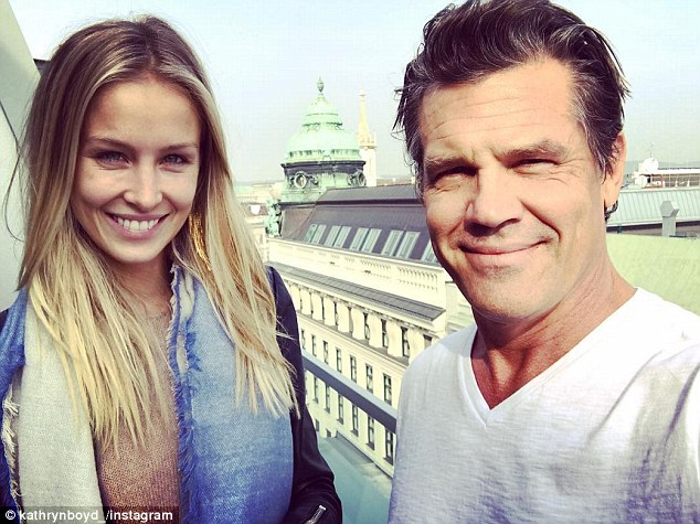 Big smile: The couple looked thrilled to be away together while taking in the sights