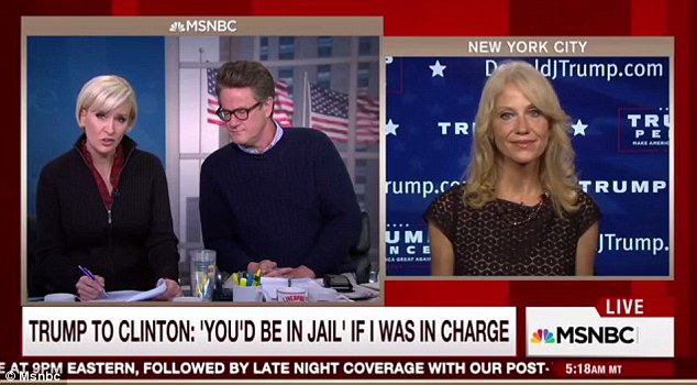 Support'We're just so pleased with Mr. Trump and the debate last night,' Conway said on MSNBC's 'Morning Joe' program. 'That was a masterful performance.'
