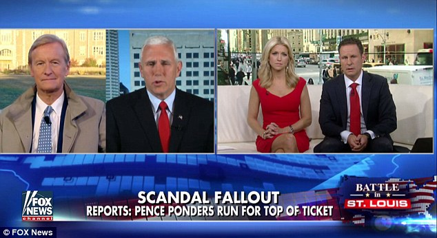 'I'm proud of the job that he did and proud to stand shoulder to shoulder with him,' the Republican vice presidential candidate said Monday on Fox and Friends