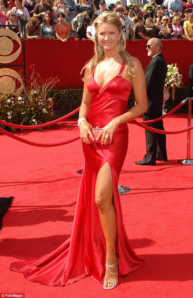Access Hollywood revealed the Republican nominee was talking about Nancy O'Dell (pictured in 2005) - an entertainment journalist and current Entertainment Tonight co-host