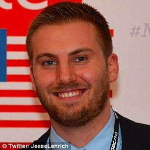 The Clinton spokesman, Jesse Lehrich, is pictured above