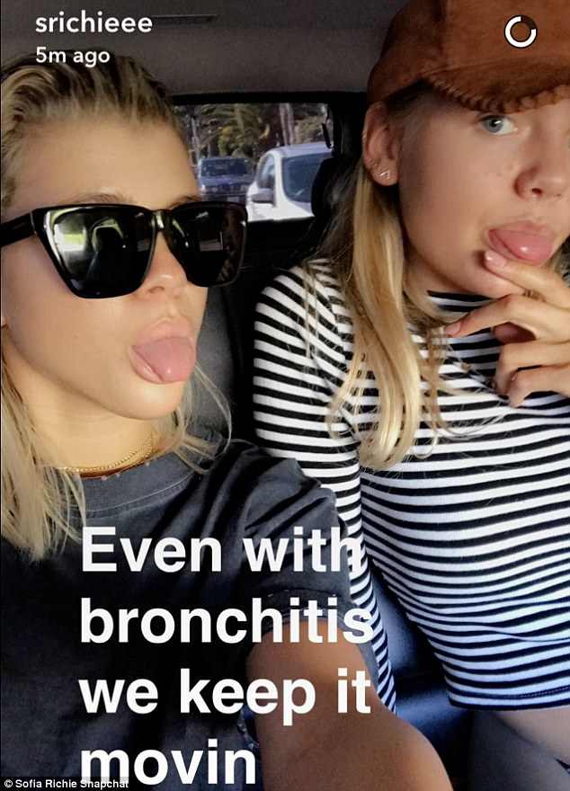 'Even with bronchitis we keep it movin': The girls appeared to pull through despite an issues