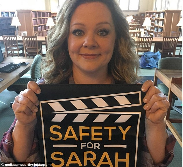 Tribute: The actress took time on Saturday to remember the late camera assistant, Sarah Jones, who was killed by a train while filming Midnight Rider in 2014