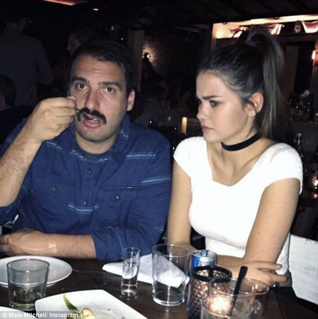 Taking time off: Maia is currently living in America, where she stars in ABC Family drama series The Fosters. Pictured: Maia with a male friend during her night out in West Hollywood