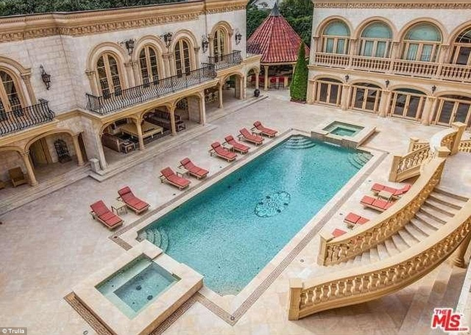 The mansion was previously owned by Real Housewives of Atlanta's Kim Zolciak's former boyfriend, real estate mogul Lee Najjar. His son and daughter have previously shown off the home on MTV's Teen Cribs