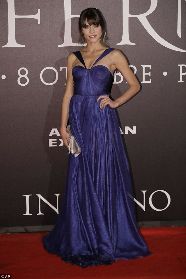 A thing of beauty: Ana Ularu gave Felicity a run for her money in a striking purple gown