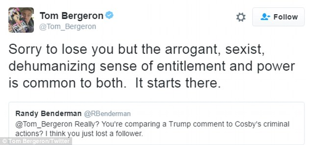 Made his point: The veteran TV personality went on to explain why he felt that way to a disgruntled follower