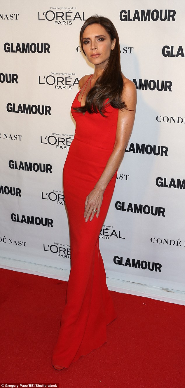 Wearing a dress from her collection: Is Victoria Beckham more normal than we think?